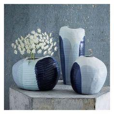 West Elm Marbelized Blue Vase, Large ($69) ❤ liked on Polyvore featuring home, home decor, vases, handmade home decor, ceramic home decor, handmade ceramic vase, blue vase and inspirational home decor