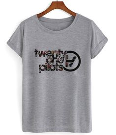 Floral twenty one pilots logo T shirt @someonesherlock TELL MOM I WOULD WANT THIS TOO PLSSSSS ♡