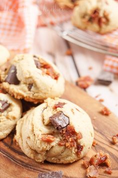 Peanut Butter Bacon Chocolate Chunk Pudding Cookies - Living Better Together