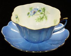 Shelley Blue Poppy pattern in the Stratford shape.