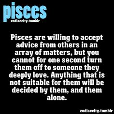 Pisces are willing to accept advice from others… Pisces Sign, Pisces Love, Astrology Pisces, Pisces Quotes, Pisces Woman, My Zodiac Sign, Astrology Signs, Taurus Horoscope, Capricorn Facts