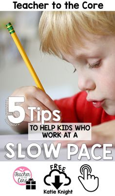Use these 5 easy to implement strategies to help your slow finishers complete their classwork- From Katie Knight at Teacher to the Core