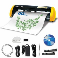 """GCC Professional Expert II 24"""" Wide Vinyl Cutter - Swing Design Commercial Signs, Swing Design, Oracal Vinyl, Sign Maker, Transfer Tape, Vinyl Cutter, Vinyl Crafts, Adhesive Vinyl"""