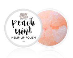 Peach Mint Hemp Lip Polish from www.staywildorganics.com #cosmetics #beauty #skincare #cbd #cannabis
