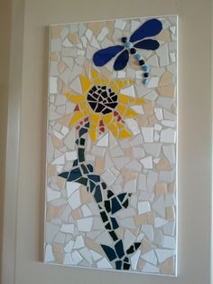 Dragonfly and Sunflower Mosaic