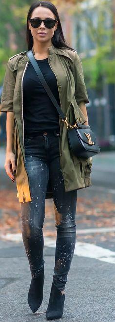 Casual Dark Neutrals Fall Street Style Inspo by Johanna Olsson