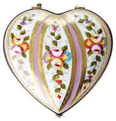 """One Kings Lane - Must-Have Decor - 5"""" Vieux Paris Heart Limoges Box"""