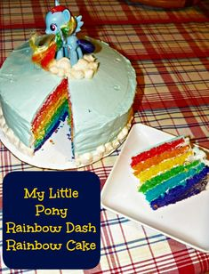 White Cake Recipe and a My Litle Pony Rainbow Dash Rainbow Cake