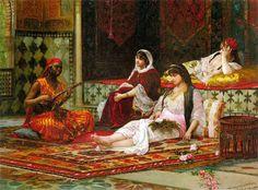 :::: PINTEREST.COM christiancross ::::.:. Filippo Baratti (Italian Painter ,1868-1901)  –  In the Harem
