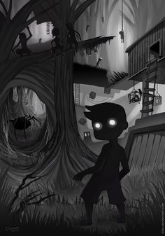 Limbo. Love this game... Creepy and addicting