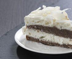 Kokosový dort s čokoládovým korpusem Vanilla Cake, Tailgate Desserts, Cakes, Cake Receipe, Recipes, City