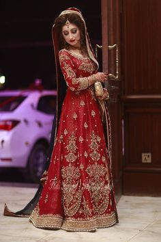 pakistani wedding lengha red amd gold - Google Search