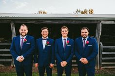 Blue Navy Suits Groom Groomsmen Bow Tie Whimsical Barn Wedding Australia http://throughthewoodsweran.co.uk/