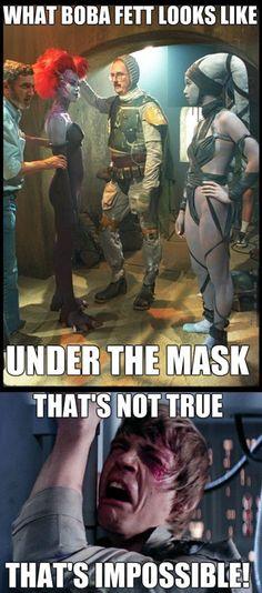 Boba Fett under the mask