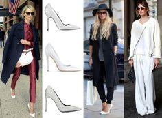 White pumps done right: http://lure-of-luxe.com/post/46364579949/whitepumps