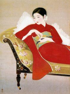 Taisho Chic: Japanese Modernity, Nostalgia and Deco Kendall Brown Sharon Minich Oriental, Geisha Art, Asian Love, Art Japonais, Japanese Painting, Japanese Prints, Japan Art, Japanese Culture, Female Art