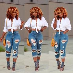 Cute Casual Outfits, Sexy Outfits, Chic Outfits, Spring Outfits, Girl Outfits, Fashion Outfits, Jeans Fashion, Black Women Fashion, Look Fashion