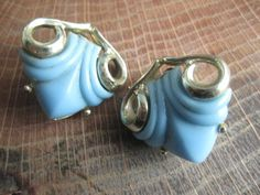 Vintage Coro Baby Blue Lucite and Silver Tone by GrayGatorVintage, $12.00