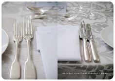 Patterned table cloth and beautiful flatware. Flatware, Glamour, Tableware, Pattern, Wedding, Beautiful, Style, Valentines Day Weddings, Swag