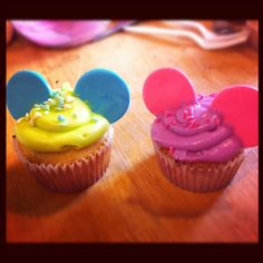 Disney themed cupcakes