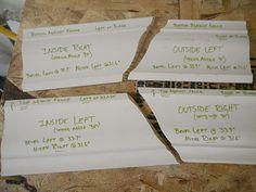 crown molding templates via Sawdust Girl