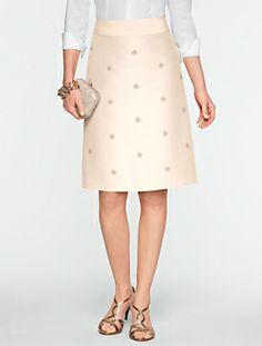 Talbots - Faille Bead & Sparkle Skirt   Skirts   Misses