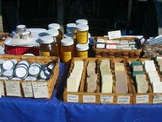 Handmade soaps from the farmers market