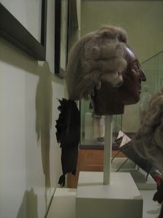 Men's wig mid 18th century by Mme. du Jard, via Flickr