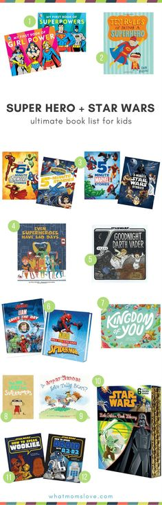 Best books for Super Hero and Star Wars lovers | Fun books for kids packed with their favorite action figures These make great gifts! #superhero #starwars #book