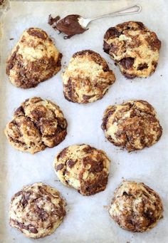 Nutella Drop Biscuits-easy biscuits swirled with Nutella from twopeasandtheirpod.com #recipe #Nutella