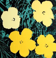 Andy Warhol > Flowers I #popart #andywarhol #artetrama