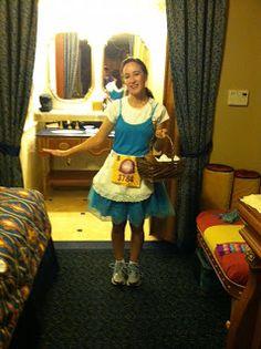 Mom's Magical Miles: Princess Half 2013 Provincial Belle running costume #BlueDressBelleRunningCostume