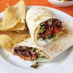 April 02, 2012  Chipotle Bean Burritos  Add guacamole and chips to this hearty vegetarian dish for an easy Mexican meal.