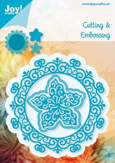 6002/0460 Noor! design Blauw Cirkel met Bloem 2 st.