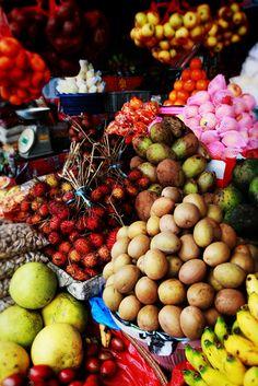 Bali Market Fruit. We have wonderful Bali adventure tours with leading travel companies. Click here:  http://www.adventuretravelshop.co.uk/adventure-holidays-asia/bali-adventure-tours/