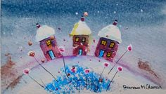 Buy Houses in the Snow 4, Mixed Media painting by Frances Coleman on Artfinder. Discover thousands of other original paintings, prints, sculptures and photography from independent artists.