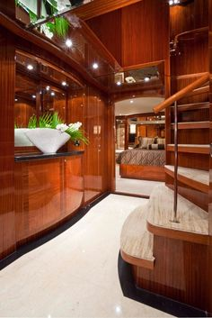 Yacht Interior Design | Design work by Erica Hinkle & Shelley Dicondina of…