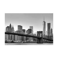 Brewster DM622 New York Wall Mural New York Home Decor Murals (4.665 RUB) ❤ liked on Polyvore featuring home, home decor, wall art, murals, new york, wallpaper, nyc wall art, brewster home fashions, brooklyn bridge wall art and black and white wall art