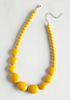 Bright and Baubly Necklace in Mustard. Your perky personality is reflected in everything you do, from the way you walk to how you accessorize, as with this beaded necklace! #yellow #modcloth