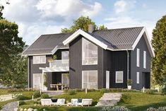 Vinci fra Moderne-serien med 4 soverom og walk-in Shed, Outdoor Structures, House Design, Interior, Houses, Modern, Homes, Design Interiors, Interiors