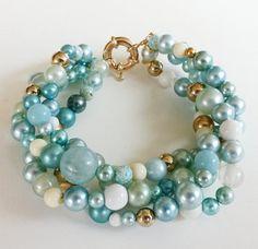 RESERVED SALE OOAK RePurposed Blue Colors Bead by holyinspired