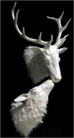 Paper Sculpture by Allen and Patty Eckman \\ Allen and Patty Eckman have worked in the medium of cast paper sculpture since 1987 and are internationally recognized as the premier artists working in the medium today.