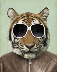 cool tiger (an homage to high school days) ;) #screameditions #art #modernart #contemporaryart #londonart #coolart #tiger