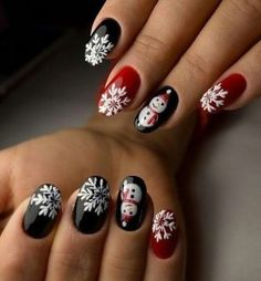 Cutest Christmas Nail Art DIY Ideas Cutest Christmas Nail Art DIY IdeasIf you are getting ready for the holidays by painting a winter wonderland on your nails, these Cutest Chr Cute Christmas Nails, Christmas Nail Art Designs, Xmas Nails, Holiday Nails, Halloween Nails, Christmas Trees, Santa Christmas, Nail Art Hacks, Nail Art Diy
