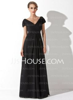 Mother of the Bride Dresses - $126.49 - A-Line/Princess V-neck Floor-Length Chiffon Mother of the Bride Dress With Ruffle (008006416) http://jjshouse.com/A-Line-Princess-V-Neck-Floor-Length-Chiffon-Mother-Of-The-Bride-Dress-With-Ruffle-008006416-g6416
