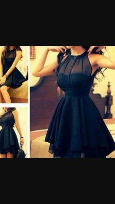 Black dress.  ♡_♡