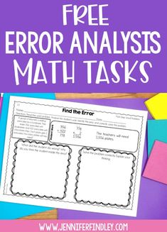 Error analysis is a powerful math strategy to help your students think critically and at higher levels in math. Grab free error analysis math tasks for multi-step word problems on this post! Fifth Grade Math, Fourth Grade Maths, Year 5 Maths, Sixth Grade, Math Enrichment, Math Strategies, Instructional Strategies, Math Intervention, Math Word Problems