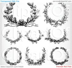 laurel wreath on top right to circle compass