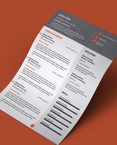 No design skills required! All you need to do it fill out your information in the preset fields which even come with placeholder text and tooltips. Resume Pdf, Best Resume Format, Resume Help, Modern Resume Template, Resume Tips, Creative Resume Templates, Cv Template, Resume Examples, Resume Writing