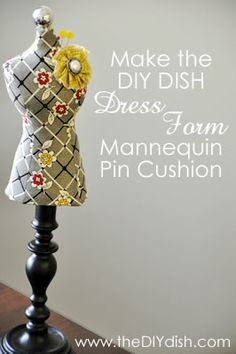 tutorial for mini dress mannequins. would look cute as jewerly holders or just as decor. add a dress